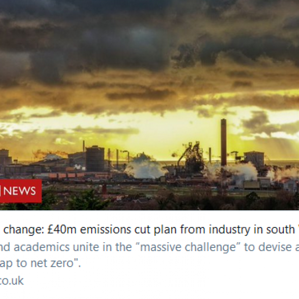Climate change: £40m emissions cut plan from industry in south Wales